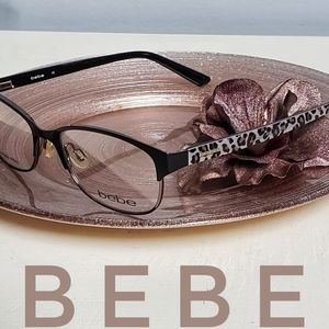 BEBE 5071 Jinxed Eyeglasses Jet sparkly animal
